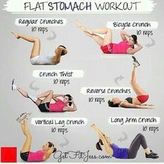 Get that flat belly before spring time gets here! :) Only two months away!