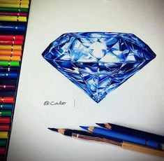 Excellent Drawing Faces With Graphite Pencils Ideas. Enchanting Drawing Faces with Graphite Pencils Ideas. Gem Drawing, Diamond Drawing, Jewelry Drawing, Jewelry Art, Drawing Ideas, Pencil Art Drawings, Art Sketches, Colorful Drawings, Easy Drawings