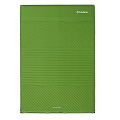 Kingcamp Camping Pad with Pillows Self-Inflating damp-proof Durable Polyester Micro Brushed PVC-Free,Lightweight for Outdoor Acctivies, Carry Bag Included Size: Double, Green Camping Cot, Family Camping, Camping Gear, Backpacking, Medicine Bottles, Camping Accessories, Green Bag, Web Design, Self