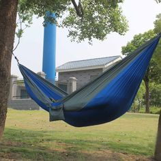 2 People Outdoor Leisure Parachute Hammock for Camping Travel