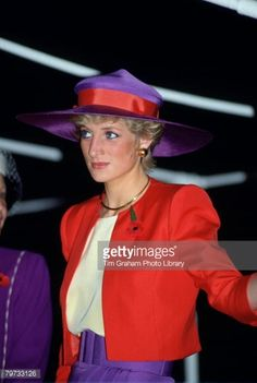 NOVEMBER 07:1989 Charles and Diana, arrive in Hong Kong for an official visit