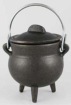 "Plain Cast Iron Cauldron 3"" * metapot.com"