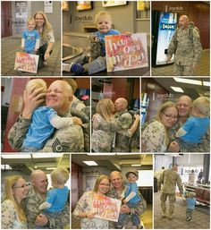 Kid Approved - Welcome Home Sign {Deployment Craft} I tear up when I read any kind of welcome home sign for our military family. So sweet!