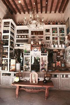 I'm leaving today for Mexico! But headed inland to the beautiful town of San Miguel de Allende. I had the chance to visit San Miguel in 2011 with Ace Camps. Apothecary Cabinet, Apothecary Decor, Apothecary Bottles, Cabinet Of Curiosities, Architecture, Herbalism, Sweet Home, Room Decor, House Design