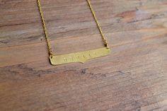 Custom Plate Necklace. $48.00, via Etsy.