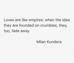 "Milan Kundera on ""Loves""."