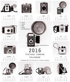 2016 Calendar Desk Calendar Vintage by ShadetreePhotography