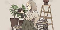 People Illustration, Illustration Art, Tmblr Girl, Hijab Drawing, Islamic Cartoon, Hijab Cartoon, Hijab Collection, Islamic Girl, Tumblr Art
