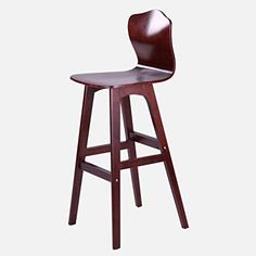 Hearty 73cm Creative Modern Design Solid Wood Bar Chair Pu Leather Soft Seat Cushion Low Backrest Coffee Counter Leisure High Footstool Bar Chairs