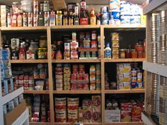 Food storage: grocery shopping in your own pantry! I would love to be this organized.