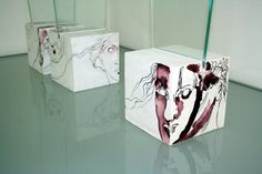 Drawing on glass in the room - objects from Susanne Haun  www.susannehaun.com