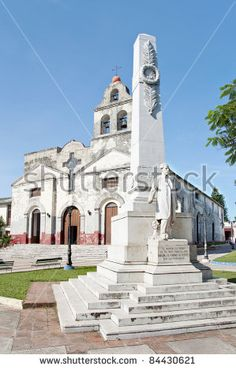 Historic church in Santa Clara,Cuba. Monument to Miguel Jeronimo Gutierrez a Cuban patriot.