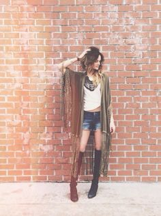Tassel Kimono and FP New Romantics Jessy Tank styled by fpkatiepossage on FP Me #freepeople #fpme