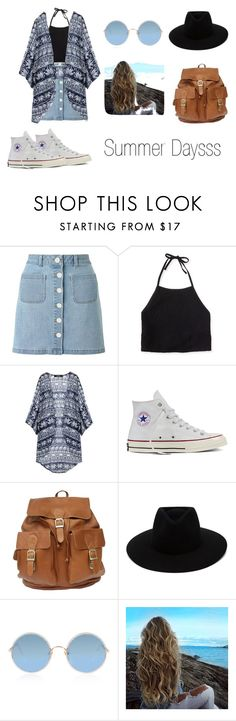 """Summer Daysss"" by immsy01 ❤ liked on Polyvore featuring Miss Selfridge, Aéropostale, Converse, rag & bone and Sunday Somewhere"