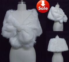 White Faux Fur Pearl Shrug Cape Stole Wrap Wedding Bridal Special Occasion Shawl 2012 on AliExpress.com. 15% off $12.74