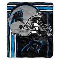 Carolina Panthers Blanket - 50x60 Royal Plush Raschel Throw - Touchback Design
