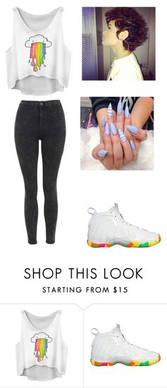 """"""""""" by lexiswagg on Polyvore featuring NIKE and Topshop"""