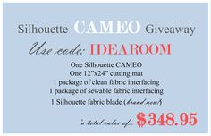 Silhouette Giveaway @ the idea room
