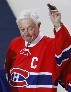 Montreal Canadiens great Jean Béliveau died December 2014 at the age of We take a look back at his storied hockey career. Us Hockey Team, Hockey Games, Hockey Players, Ice Hockey, Montreal Canadiens, Sports Figures, National Hockey League, Toronto Maple Leafs, Great Team