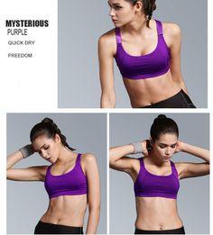 Sports Bra Women Fitness Yoga Padded Push Up Breathable Gym Bra Brasieres NEW | eBay