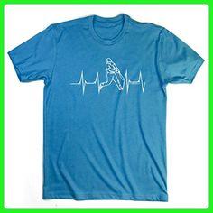 Heart Beat Baseball T-Shirt | Baseball Tees by ChalkTalkSPORTS | Turquoise | Youth X-Large - Sports shirts (*Amazon Partner-Link)
