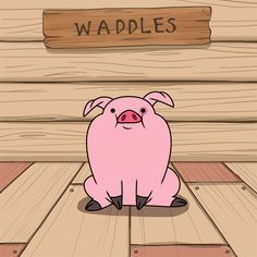 Gravity Falls: Waddles, he is so cute