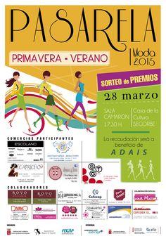 Como cada año el próximo sábado día 28 de marzo se va a celebrar en el Centro Cultural de Segorbe, la pasarela de la moda primavera verano, organizada por la Concejalía de Comercio, con la colaboración de la Asociación de Mujeres y la FECAP.