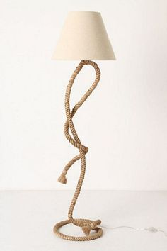 paused rope floor lamp