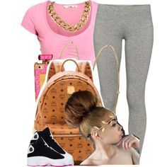 ✨ by trillest-queen on Polyvore featuring TNA, MCM, Jennifer Meyer Jewelry and Retrò