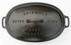Antique Rare No. 5 Griswold Large Cast Iron by SeaGlassPrimitives, Cast Iron Pot, Cast Iron Cookware, Cast Iron Cooking, It Cast, Griswold Cast Iron, Sugar Bush, Seasoning Cast Iron, Selling Antiques, Organic Oil