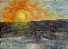 Emil Nolde | Wintersonne - Winterly sun | 1908 | Albertina, Wien | © Nolde Stiftung Seebüll