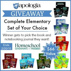 Apologia Giveaway! Complete Elementary Set of Your Choice! Ends 2/20/15