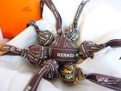 Pompons Bag Charms made of Hermes Bolduc riboon - HappyFace313