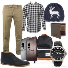 guy outfit minus the shoes, backpack, and beanie.