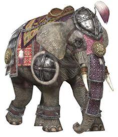 Çin-moğol savaş fili.