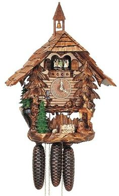 Model #8TMT 5313/9 Chalet Cuckoo Clock with Bell Tower.