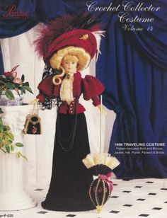 1896-Traveling-Costume-Vol-14-Paradise-Crochet-Doll-Clothes-Pattern-Book-P-025
