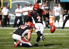 Cincinnati Bengals' Mike Nugent (2) kicks the game winning field goal during the…