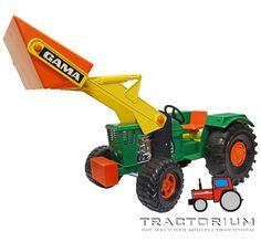 Gama 4321191 Deutz 06 Traktor mit Frontlader 1/16