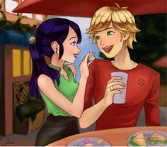 miraculous adrien and marinette - Google Search Older Marinette and Adrien