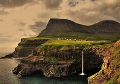 Gásadalur village, Faroe Islands, Denmark, the most beautiful villages around the world. Landscape Wallpaper, Landscape Background, 100 Things To Do, Life Guide, Ireland Landscape, Faroe Islands, Landscape Pictures, Ireland Travel, Dublin Ireland