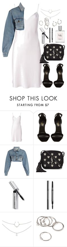 """Untitled #5122"" by theeuropeancloset ❤ liked on Polyvore featuring Yves Saint Laurent, Off-White, Bobbi Brown Cosmetics, Burberry, philosophy and Forever 21"
