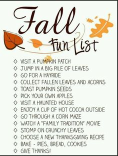 A must do list this fall! Free Fall Activity Checklist for adults and kids.:Autumn Bucket List Printable - Spool and Spoon:. Autumn Activities, Fun Activities, Herbst Bucket List, Planners, Happy Fall Y'all, Fall Family, Fall Harvest, My Guy, Halloween Cupcakes