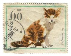 Vintage cat stamps - preciso