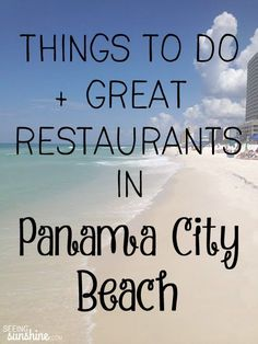 to Do in Panama City Beach Check out this great list of things to do in Panama City Beach + a list of restaurants to try!Check out this great list of things to do in Panama City Beach + a list of restaurants to try! Beach Vacation Tips, Florida Vacation, Florida Travel, Florida Beaches, Beach Trip, Vacation Trips, Vacation Ideas, Beach Travel, Vacation Spots