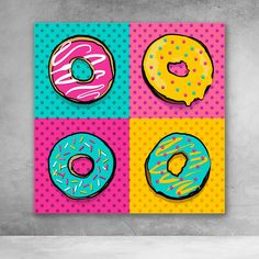 Small Canvas Paintings, Easy Canvas Art, Small Canvas Art, Mini Canvas Art, Canvas Wall Art, Canvas Ideas Kids, Pop Art Paintings, Canvas Frame, Warhol Paintings