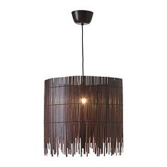 IKEA - ROTVIK, Pendant lamp,  , , The light shines through the bamboo and creates spectacular effects on the wall.When the lamp is unlit it becomes a decorative sculpture in the room.