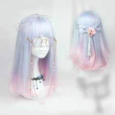 """6,522 Likes, 9 Comments - Spree Picky (@spreepicky) on Instagram: """"Love this combo  Pastel Blue Pink Mixed Wig #SP165379 Lolita Retro Rose Round Glasses #SP165739 …"""""""