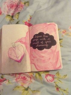This is my own first finished page on my Wreck This Journal!