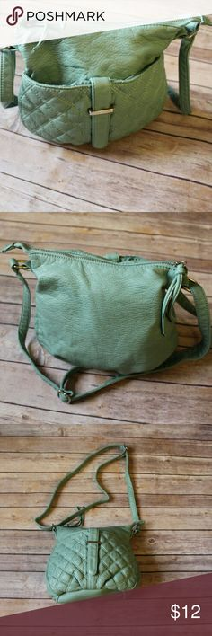 """TEAL CROSS BODY PURSE Super cute. Soft and Comfy. Zipper. Cell phone pocket inside. Measurements  9"""" length  10"""" Width  2.5"""" side  Adjustable strap Bags Crossbody Bags"""